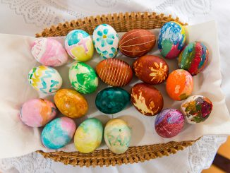 Nicely decorated Lithuanian Easter eggs    Photo Ludo Segers