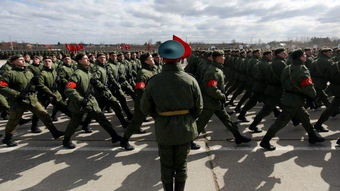 Victory Day parade rehearsal
