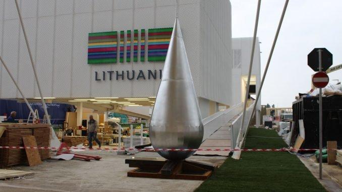 """EXPO 2015 Lietuvos paviljone pristatytas interaktyvus """"lašas"""""""