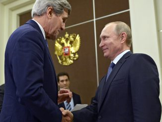 John Kerry and Vladimir Putin