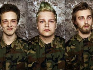 Vytenis, 18, Rokas, 17, and Martynas, 22