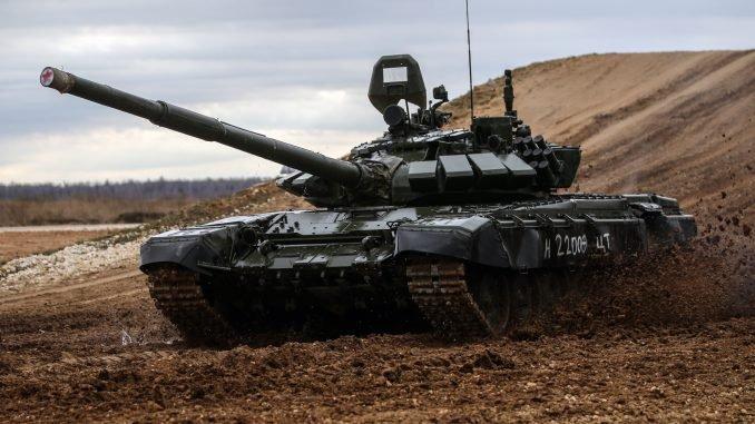 The Russian T-72 tank