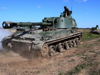 Russian military exercise in Kaliningrad