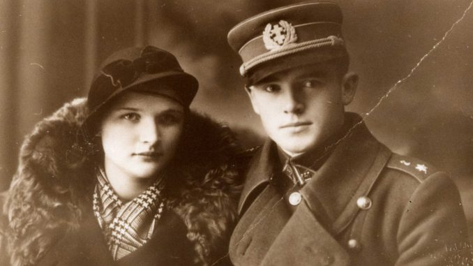 General Storm Jonas Noreika with his future wife Antanina Karpavičiūtė, Palanga circa 1936
