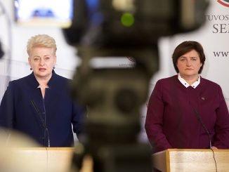 Dalia Grybauskaitė (left), Loreta Graužinienė