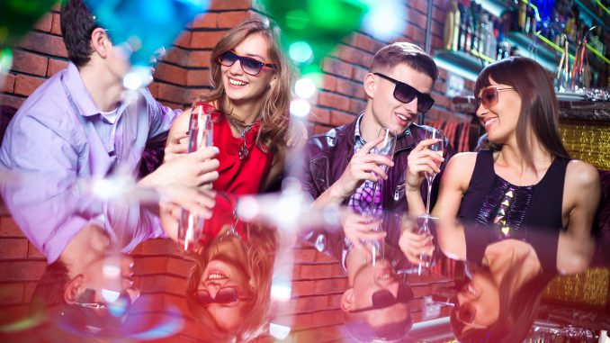 Youth drinking alcohol