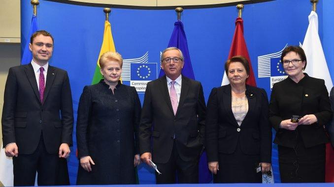 Taavi Roivas, Dalia Grybauskaitė, Jean-Claude Juncker,  Laimduota Straujuma, Ewa Kopacz