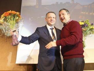 Eligijus Masiulis, left, and Antanas Guoga