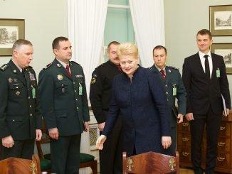 President Dalia Grybauskaitė with leadership of public security institutions