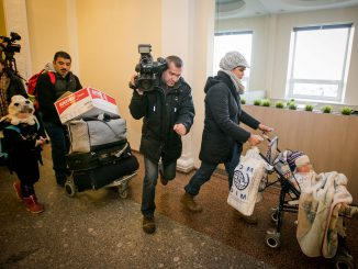 The first refugee family under the EU relocation programme arriving to Lithuania
