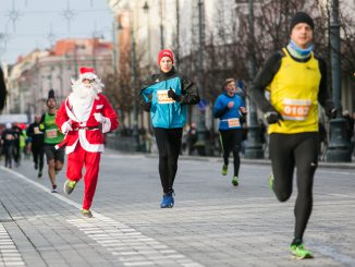 Vilnius' 40th annual Christmas run