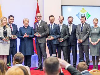 Global Lithuania Awards winners with President Grybauskaitė