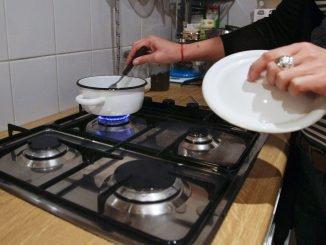 A gas stove