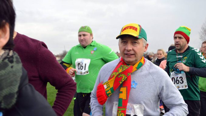 January 13 tribute run in London. Photo Lithuanian Embassy in the UK