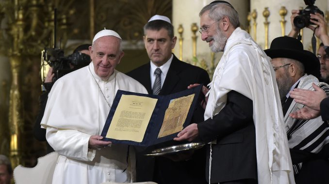 Pope Francis' visit to the Great Synagogue of Rome