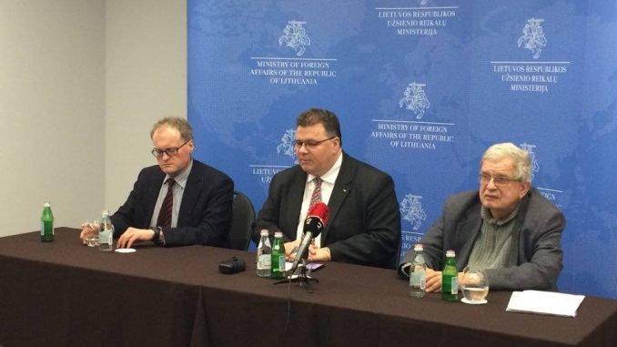 Leonidas Donskis, Linas Linkevičius and Tomas Venclova