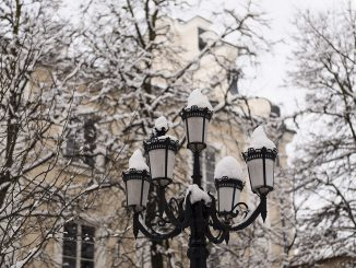 Spring Snow fall in Vilnius  © Ludo Segers @ The Lithuania Tribune