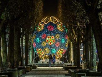 Giant Easter egg in Kaunas