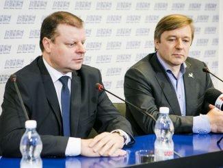 Saulius Skvernelis and Peasant-Greens leader Ramūnas Karbauskis