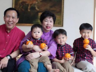 Andy Lim, Lithuania's Honorary Consul in Singapore, with his family