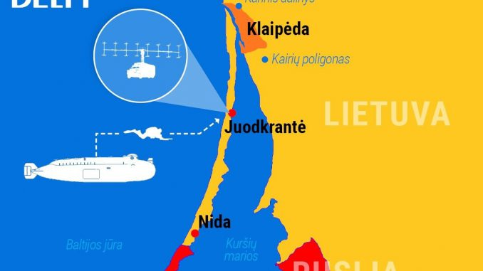 Suspected Russian operation on the Lithuanian shore