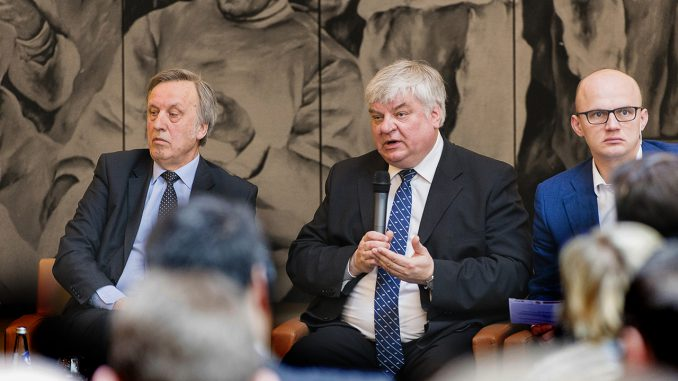 Povilas Gylys,  Rimantas Vaitkus, and  Edmundas Jakilaitis   Photo © Ludo Segers @ The Lithuania Tribune