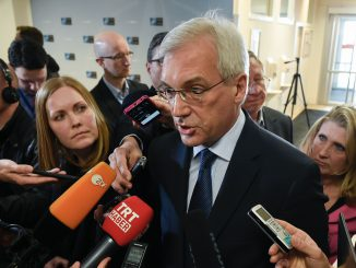 Alexander Grushko at NATO-Russia meeting
