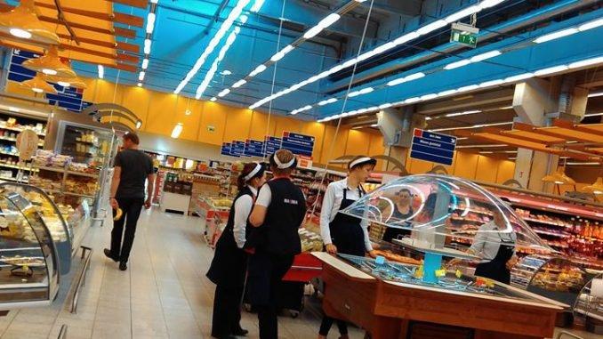 Supermarkets during the boycott