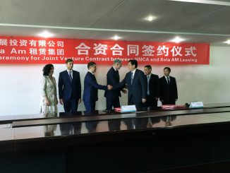 AviaAM Leasing and HNCA contract signing