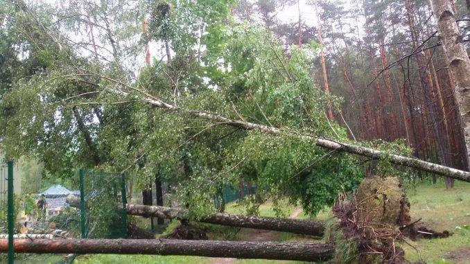Storm in Druskininkai