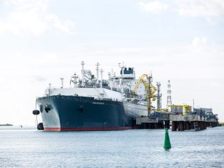 Klaipėda LNG terminal Independence, a floating LNG storage and regasification unit