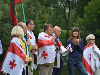 Rally to commemorate the 8th anniversary of the Russian invasion of Georgia. Photos Viktorija Adomėnienė