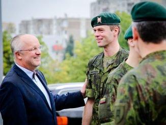 Defence Minister Juozas Olekas (left)