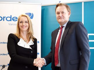 Nordea Baltic chief Inga Skisaker and DNB's Mats Wermelin