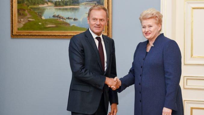 Dalia Grybauskaitė with Donald Tusk meeting in Vilnius