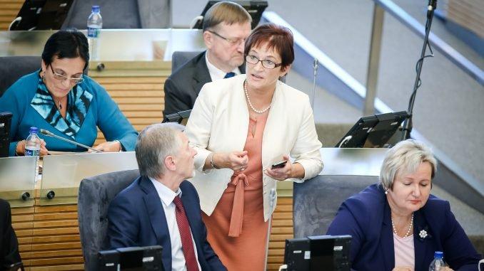 Birutė Vėsaitė and the Social Democrats in the Seimas