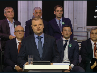 Saulius Skvernelis during the TV debates on economy