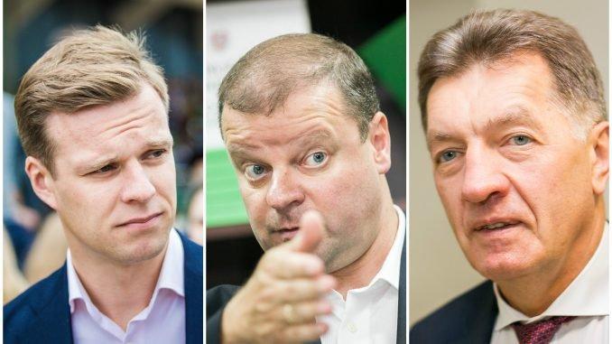 Gabrielius Landsbergis, Saulius Skvernelis, Algirdas Butkevičius