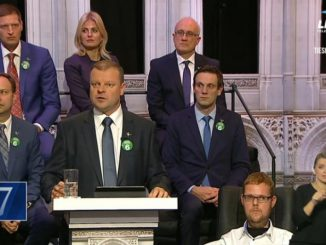 Skvernelis during the last TV debate on LRT