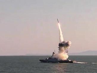 Kalibr rocket launch