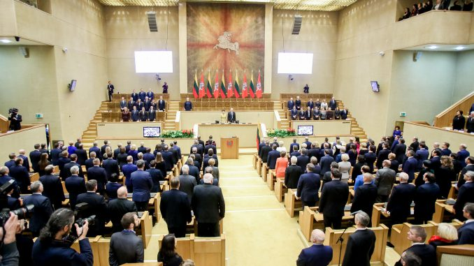 The first session of the newly elected Seimas for 2016-2020
