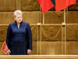 Dalia Grybauskaitė at the Seimas
