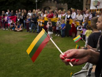 Lithuanians gathering in Peterborough, UK
