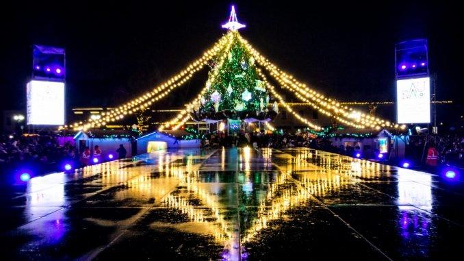 Christmas tree in Kaunas