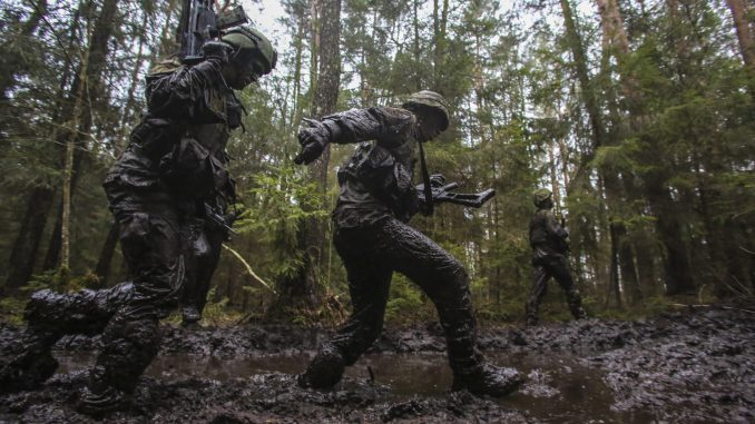 Lithuanian soldiers in training