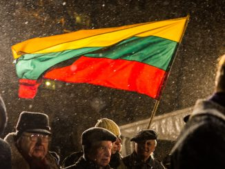 January 13 commemoration in the front of Seimas