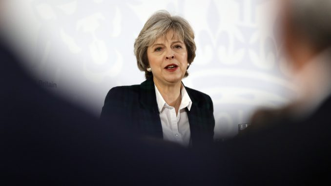 PM Theresa May during the Brexit speech