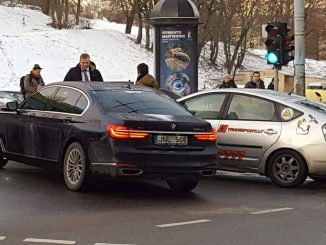 Seimas Speaker Viktoras Pranckietis got into a minor accident