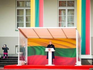 President Grybauskaitė during the ceremony