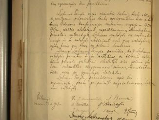 The long-sought original document of the Lithuanian Independence Act signed on February 16 1918 was discovered in Germany